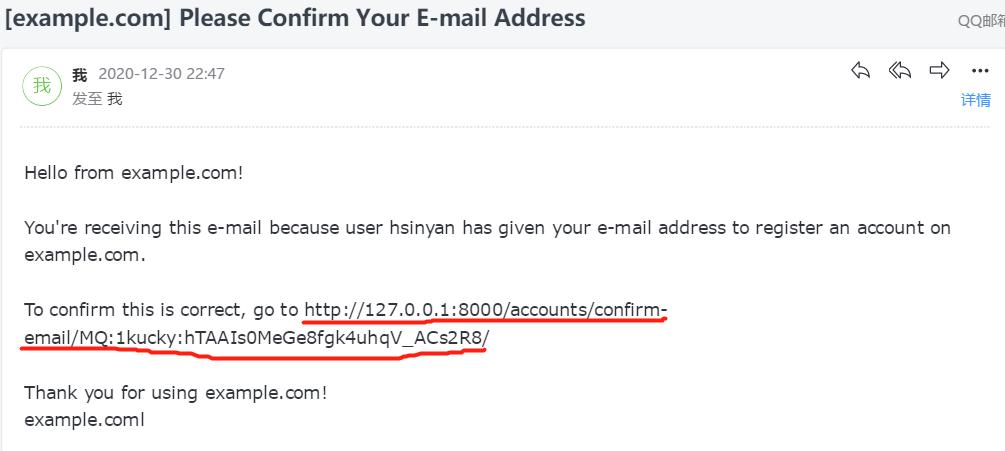 allauth默认的重置密码方式